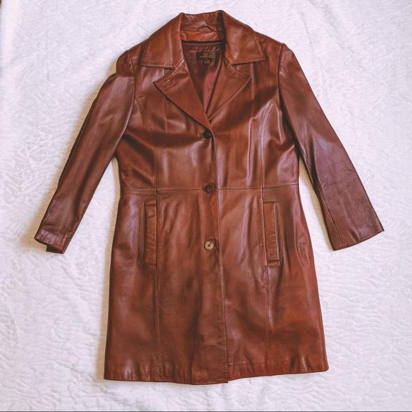 Danier Jackets & Blazers - Danier Raspberry Red Leather Jacket
